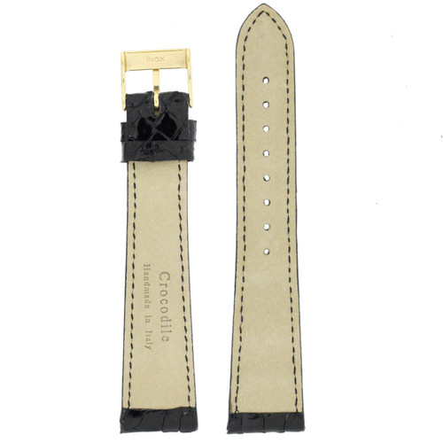 Genuine Crocodile Skin Replacement Strap in Black