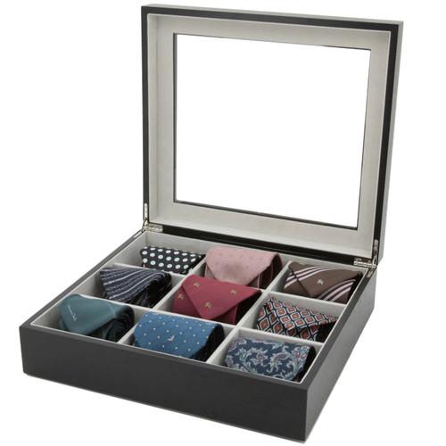 Tie Box in Black Wood | Tech Swiss TIEBOX1BK | Main