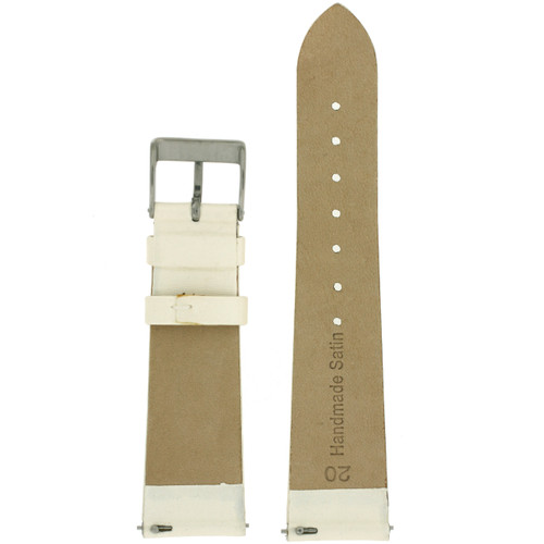 Ivory Satin Ladies Watch Band | LEA410 | Watch Material | Replacement Straps | Interior