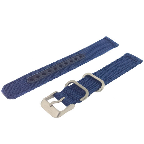 Seiko Watch Strap Nylon Blue | Seiko 4K12jZ  | Side