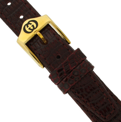 Gucci Watch Band 15mm Burgundy models 4200L