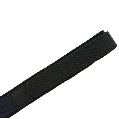20mm Navy Watch Band | 20mm Black Navy Watch Strap | 20mm Sport Navy Watch Band | Watch Material VEL100N-20mm | Side