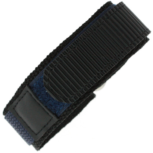22mm Navy Watch Band | 22mm Black Navy Watch Strap | 22mm Sport Navy Watch Band | Watch Material VEL100N-22mm | Top