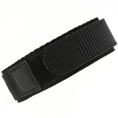 18mm Black Watch Band | 18mm Black Watch Strap | 18mm Sport Black Watch Band | Watch Material VEL100BLK-18mm | Back