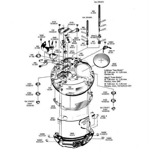 ETA 210.001 549 Setting Lever Spring Clip Original
