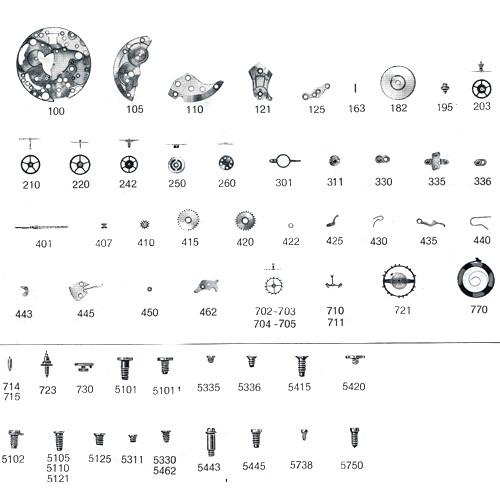 ETA 2512 watch repair parts