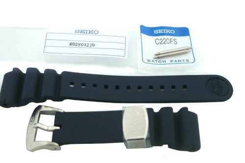 Seiko SRPA83 Blue Rubber Watchband