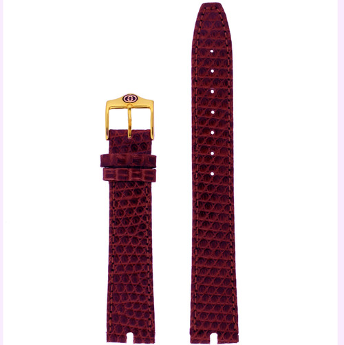 Gucci Watch Band 16mm Burgundy model 2000M
