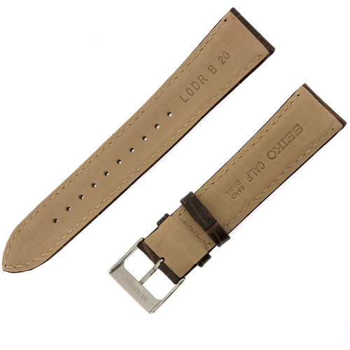 Seiko Brown leather strap