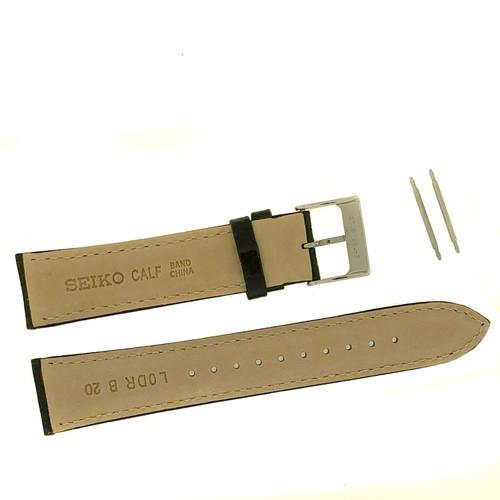 Seiko Black band 20mm