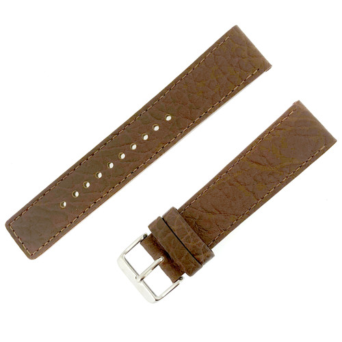 Seiko 22mm leather watch band Brown