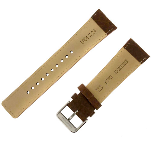 Seiko 22mm Leather watch strap