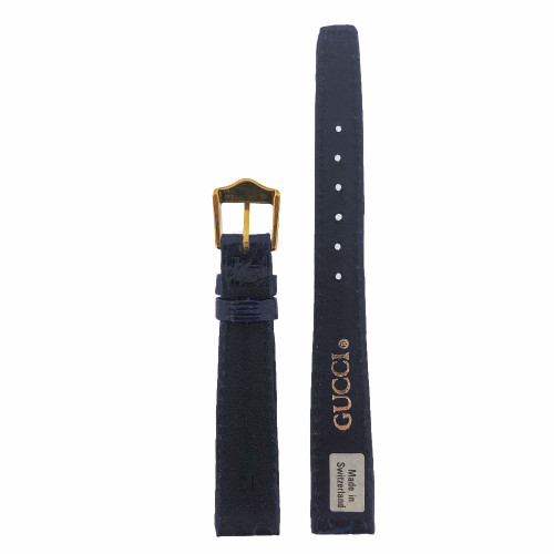 Gucci 13mm Navy Blue Crocodile Watch Band Lizard 2200L 3000L Ladies