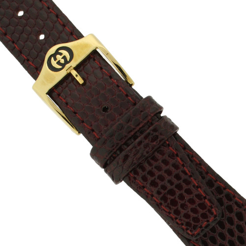 Gucci burgundy 4200M watch strap