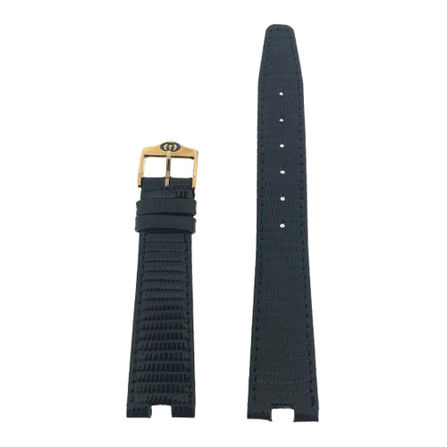Gucci Watch Band 18mm Model 4500M Black (GUC18CLZBK-L)