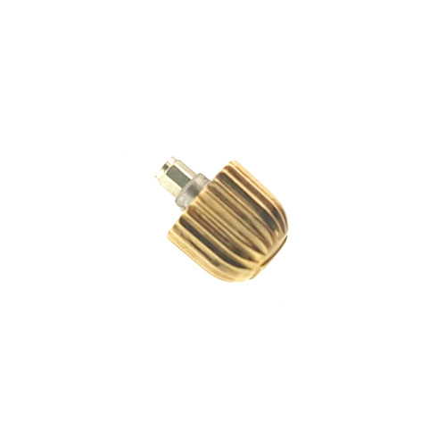 Tag Heuer Watch Crown 4.35 mm Screw Down Gold Plated