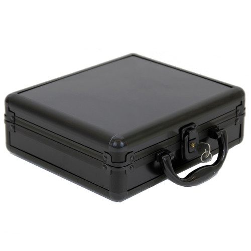 Aluminum Watch Box For 8 Watches with Handle Safe - Black Finish