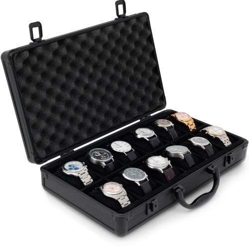 Aluminum Watch Briefcase   Mens Cases & Displays   Tech Swiss   Main Open