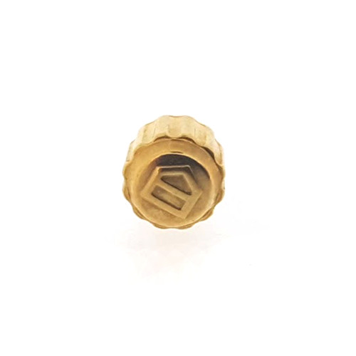 Tag Heuer Watch Crown 4.35 mm Gold plated Screw Down
