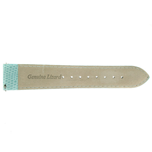 Watch Band Genuine Lizard Light Blue Built-in Spring Bars