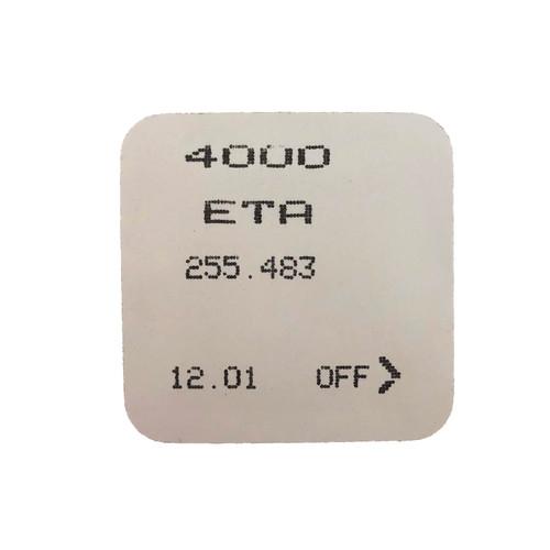 ETA255-483 255-481 Circuit Board - Back