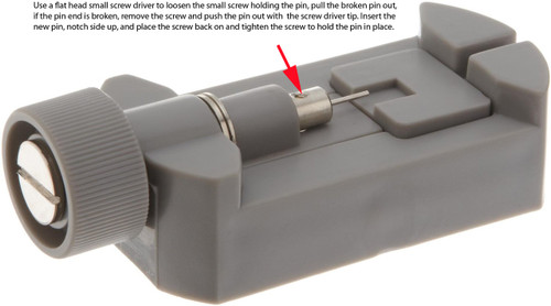 How to replace the pins on TSLK3 watch link removing tool