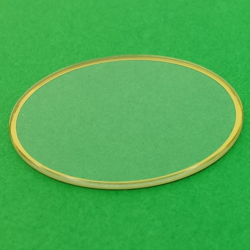 Mineral Glass for Watches | Gold Trim | Watch Parts