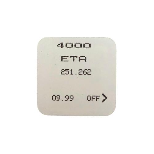 ETA Watch Movement 251.262 Circuit