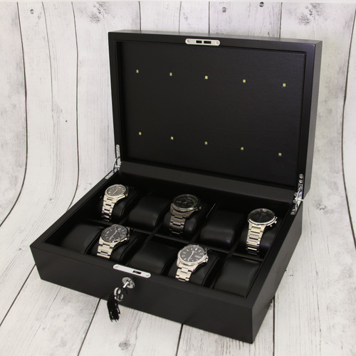 Watch Solar Light Eco Drive Charging Box for 10 Watches Techswiss