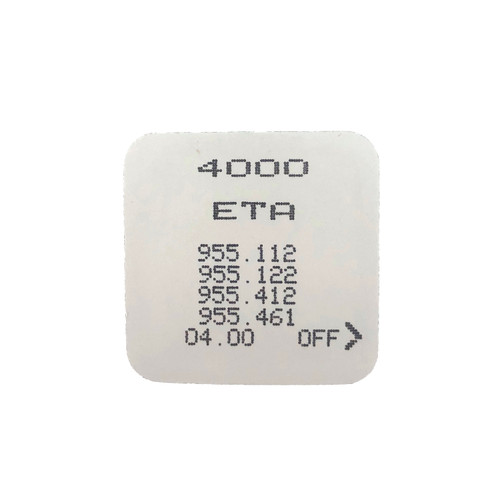 955.112 ETA Circuit  | Watchmaterial  Watch Parts  | ETA 955.112, 955.122, 955.421, 955.461 4000 | Back