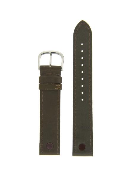 Swiss Army Victorinox Genuine Leather Calvary Band Fits 21121 Leather Brown Metal Tabs Ladies 16mm