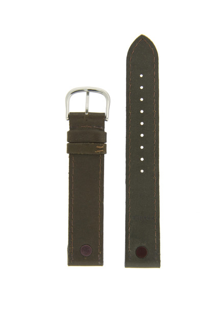 Swiss Army Victorinox Genuine Leather Calvary Band Fits 21120 Leather Brown Metal Tabs Mens 18mm