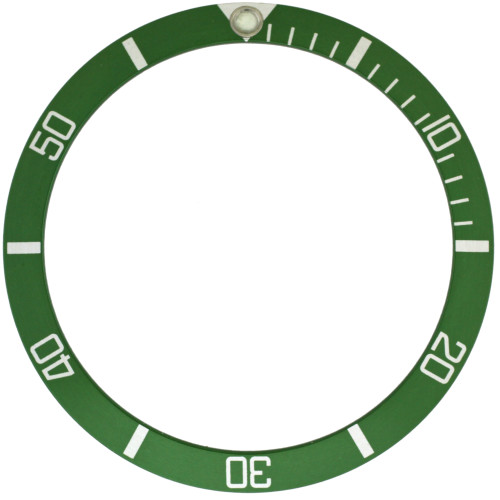 Green insert for Rolex 5513 old model submariner