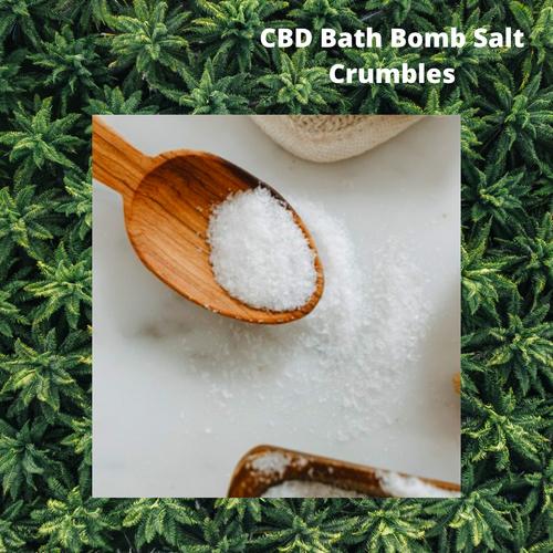 CBD Bath Bomb Salt Crumbles