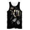 **(MENS-GRIMM-REAPER-3D-TANK-TOPS/WITH-DOG-TAGS & DEATH-FINGER-POINTING-OUT-AT-YOU/YOU'RE-NEXT,NICE-3D-CUSTOM-GRAPHIC-PRINTED-PREMIUM/DOUBLE-SIDED-TRENDY-SUMMER-TANK-TOPS)**