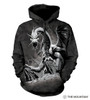 **(OFFICIALLY-LICENSED-THE-MOUNTAIN/FIERCE-BLACK-DRAGON-JERSEY-LINED-WARM-PULLOVER-HOODIES,NICE-DETAILED-PREMIUM-GRAPHIC-PRINTED-FANTASY-UNISEX-HOODIES)**