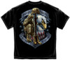 """(LICENSED-U.S.VETERANS,""""NEVER-FORGET-THAT-FREEDOM-IS-NEVER-FREE & KNEELING-SOLDIER-HONORING-TRIBUTE"""",NICE-GRAPHIC-PRINTED-PREMIUM-DOUBLE-SIDED-TEES:)"""
