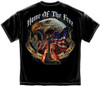 """(OFFICIALLY-LICENSED,""""HOME-OF-THE-FREE,BECAUSE-OF-THE-BRAVE"""" MILITARY-VETERANS-DOUBLE-SIDED-GRAPHIC-PRINTED-TEES:)"""