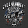 NRA - 2nd Snake  •Heavyweight 6oz 100% cotton tee •Short set-in sleeves and a two needle hem around the sleeves and bottom •Comfort cut for maximum maneuverability •Double stitched seamless collar, taped neck and Shoulders •High Quality screen printed artwork that will withstand hundreds of washes