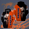 OFFICIAL-N.F.L.CHICAGO-BEARS-PULLOVER-HOODIES/CUSTOMIZED-3D-GRAPHIC-PRINTED-BEARS-TEAM-PUNISHER-SKULL!