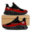 **(OFFICIAL-NFL.SAN-FRANCISCO-49ERS-TEAM-FASHION-SPORT-SHOES/TRENDY-NEW-CUSTOMIZED-GRAPHIC-PRINTED-3D-49ERS-BLACK-WEB-STYLE-OUTER-SOLES-DESIGN)**