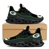 OFFICIAL-NFL.GREEN-BAY-PACKERS-SPORT-SHOES/NEW-CUSTOM-3D-PACKERS-TEAM-WEB-STYLE-BLACK-OUTER-SOLES-DESIGN!