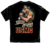 "**(OFFICIALLY-LICENSED MARINES ""U.S.M.C. SEMPER-FIDELIS & BIG-ARMED-MARINE-MASCOT/DRILL-DOG"",NICE-DOUBLE-SIDED-GRAPHIC/PRINTED-PREMIUM-TEES:)**"