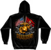 **(NEW-LICENSED-U.S.MARINES-DOUBLE-FLAGS,WITH-CLASSIC-GOLDEN-GLOBE & ANCHORS/SEMPER-FIDELIS,NICE-DETAILED-CUSTOM-GRAPHIC-PRINTED/PREMIUM-DOUBLE-SIDED-WARM-FLEECE-PULLOVER-HOODIES:)**
