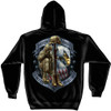 """**(OFFICIALLY-LICENSED-U.S.SERVICE-VETERANS,""""NEVER-FORGET/FREEDOM-IS-NEVER-FREE,WITH-KNEELING-SOLDIER & COMBAT-RIFLE/HELMENT"""",NICE-CUSTOM-DETAILED-GRAPHIC-PRINTED/PREMIUM-WARM-FLEECE-DOUBLE-SIDED-HOODIES)**"""