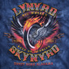 **(OFFICIALLY-LICENSED-LYNYRD-SKYNYRD/BEAUTIFUL-TYE-DYED-FLAMING/BIG-WHEELS-KEEP-ON-TURNING & SWEET-HOME-ALABAMA,NICE-DETAILED-CUSTOM-GRAPHIC-PRINTED/PREMIUM-CONCERT-TEE-SHIRTS)**