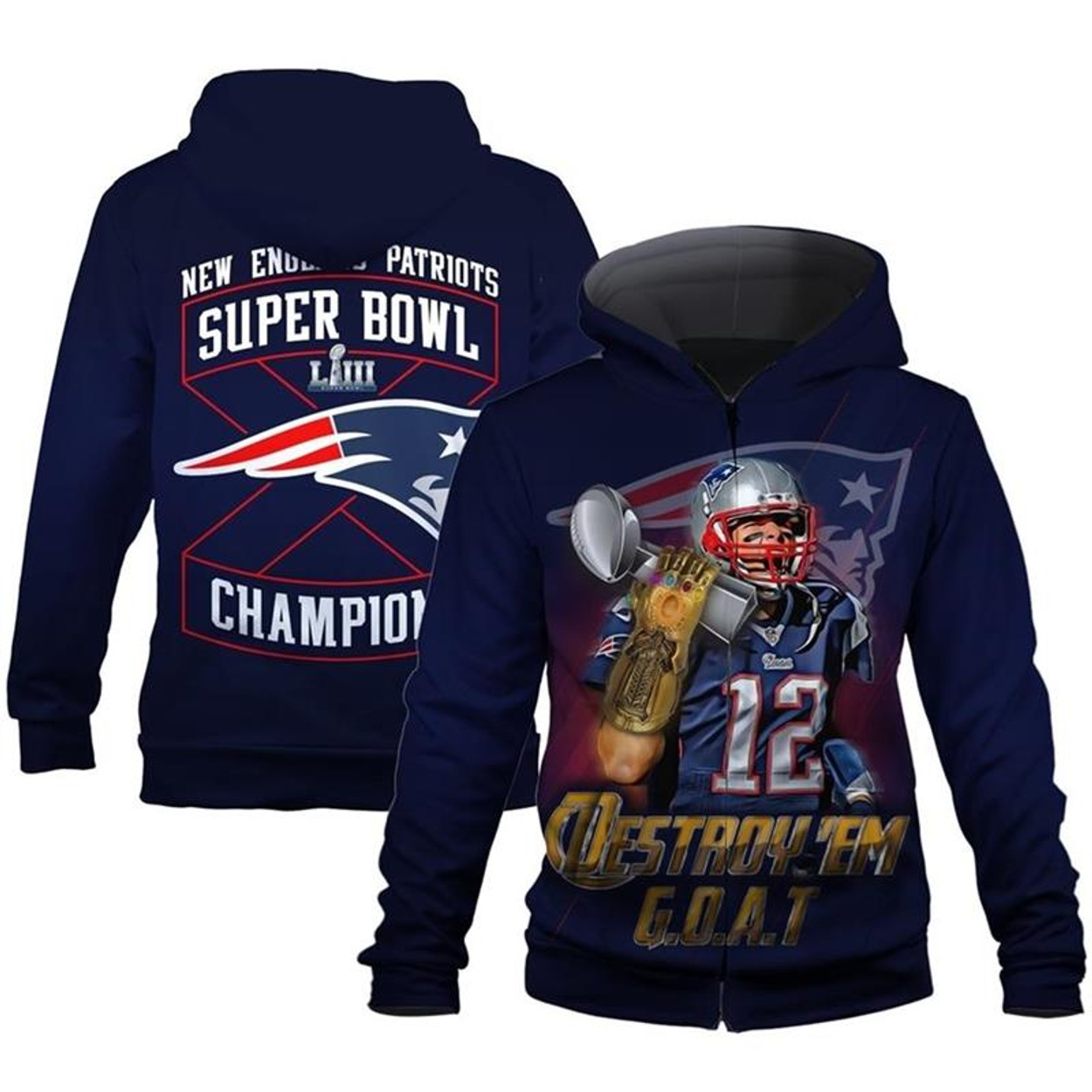 (OFFICIALLY-LICENSED-N.F.L.NEW-ENGLAND-PATRIOTS-SUPER-BOWL-CHAMPIONS-LIII  ... d9e571f89