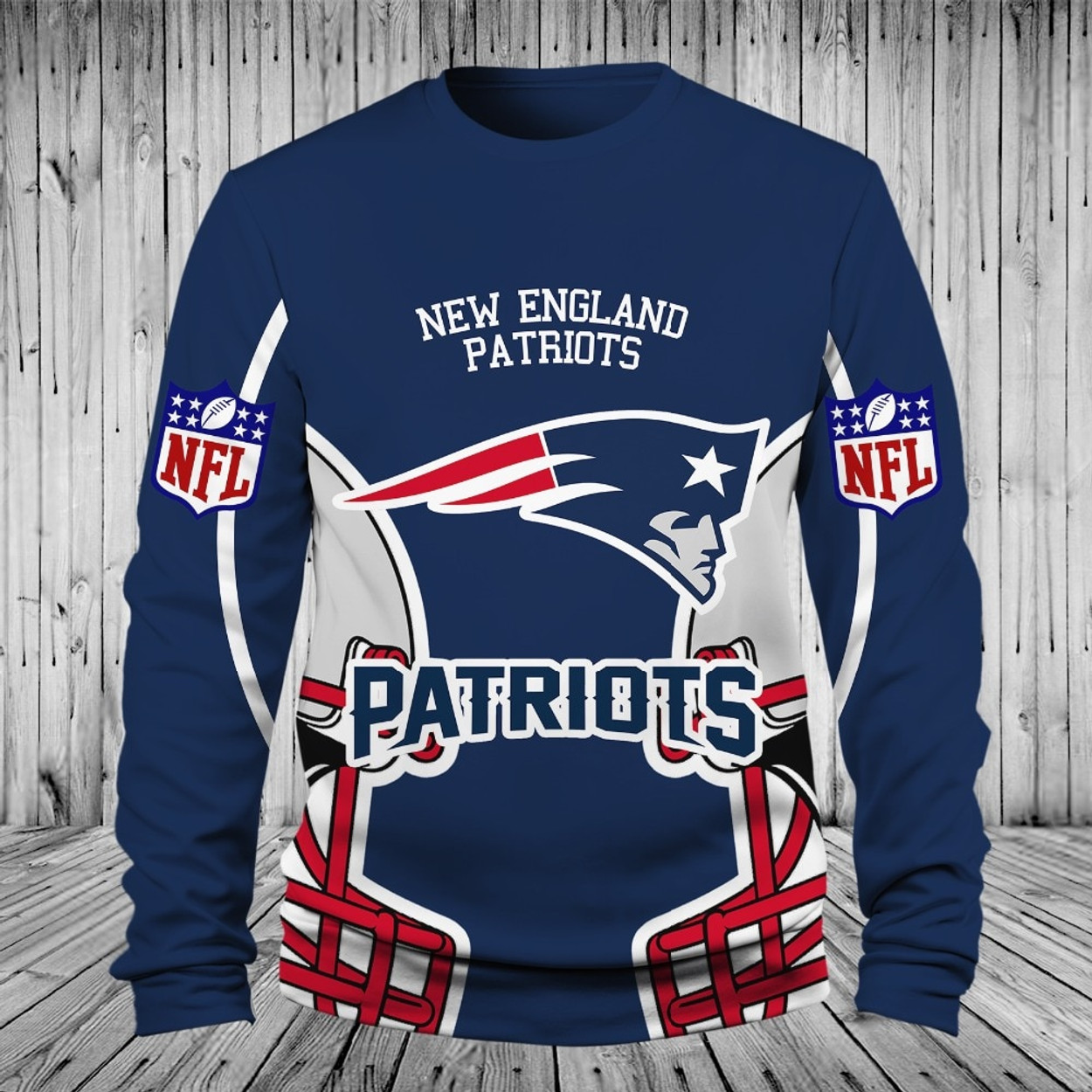 bbe234a62   (OFFICIALLY-LICENSED-N.F.L.NEW-ENGLAND-PATRIOTS-TEAM-LONG-SLEEVE-TEES NICE -CUSTOM-3D-GRAPHIC-PRINTED-DOUBLE-SIDED-ALL-OVER-GRAPHIC-PATRIOTS-LOGOS ...