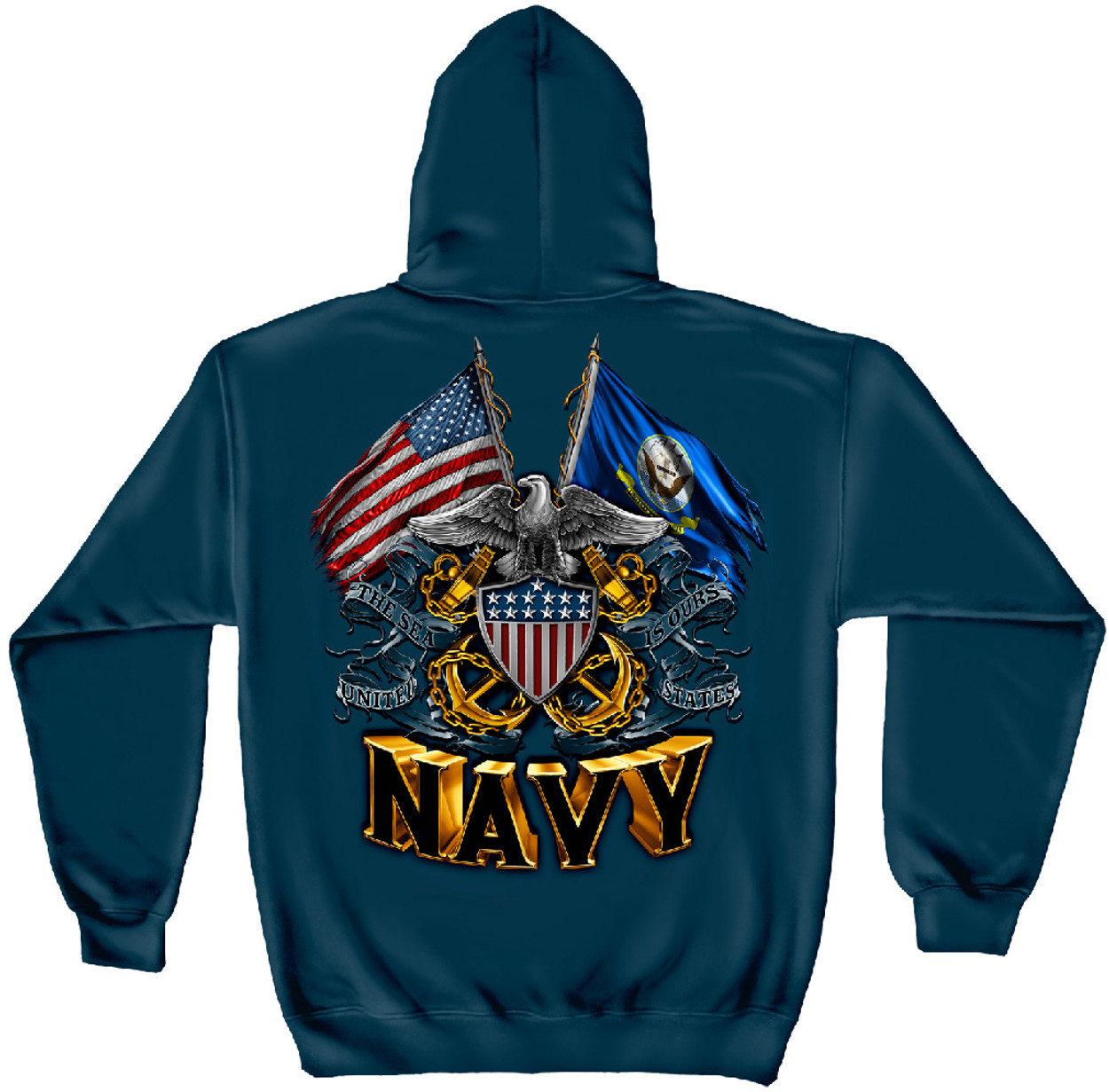 b14549829 OFFICIALLY-LICENSED-U.S.NAVY,WITH-NAVY-SYMBOL & DOUBLE-ANCHORS ...