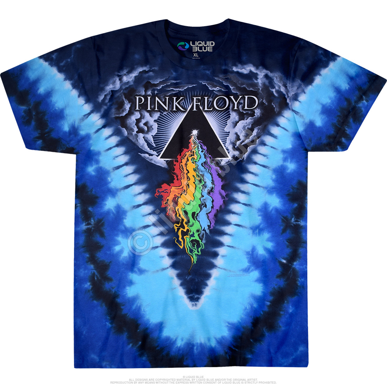 Pink Floyd Prism Stencil Mens T Shirt Dark Side of the Moon Rock Band Tour Merch